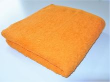 Osuška se jménem, přezdívkou 70/140cm oranžová