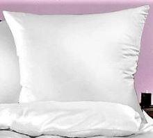 Bílý povlak 70x90cm bílý  HOTELOVÝ uzávěr 50% PES/50% BAVLNA