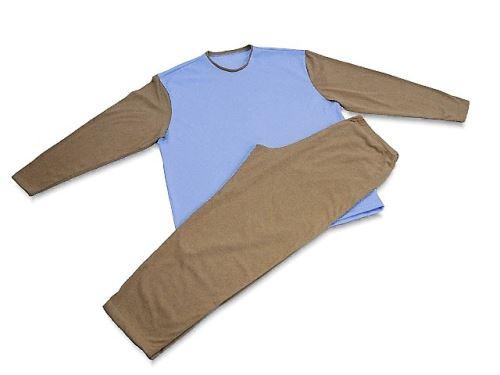 Pánské pyžamo 3121 béžová-modrá (XXL)