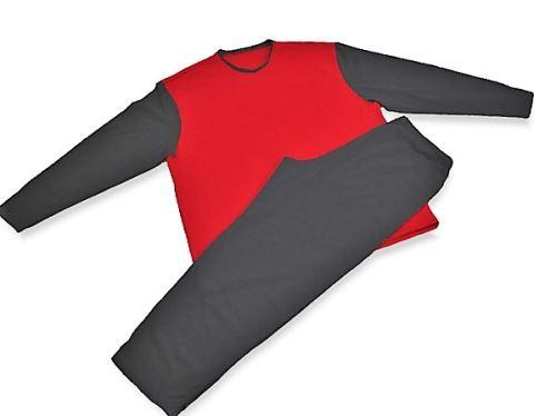 Pánské pyžamo 3518 černá-červená (XXXL) SKLADEM POSLEDNÍ 2KS