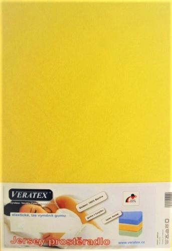 Jersey prostěradlo na masážní lůžko 60x190 cm (č. 6-stř.žlutá)