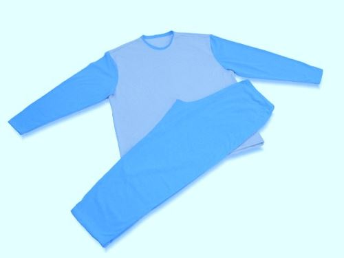 Pánské pyžamo 2229 stř.modrá-béžová (XXL)