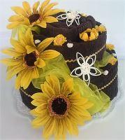 Veratex Textilní dort dvoupatrový slunečnice