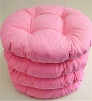 Sedák prošívaný kulatý průměr 40 cm (růžový)