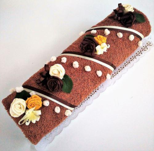 Veratex Textilní dortr roláda čokoládová velká