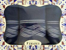 Luxusní dárkový froté set 1 osuška 2 ručníky - Vlnky tm.modré 480g m2