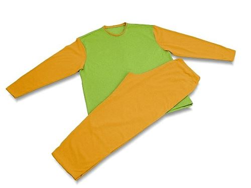 Pánské pyžamo 0725 žlutá-zelená (XL)