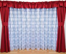 Záclona kusová - Olga 200x300 cm (bílá)