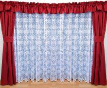 Záclona kusová - Olga 220x200 cm (bílá)