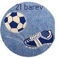 Ručník s výšivkou fotbalové kopačky a míče 50x100 výběr ze 21 barev (zakázkový produkt dodání do 14 dní)