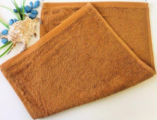 Dětský froté ručník 30x50 cm oříškový