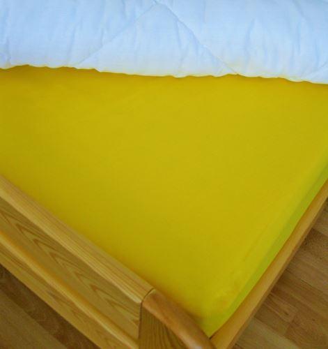Bavlněné prostěradlo jednolůžko 140x240 cm (sytě žluté)