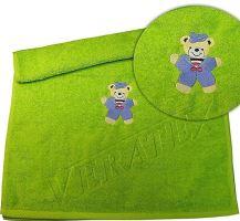 Froté osuška s výšivkou medvídka 70x140 cm výběr ze 20 barev