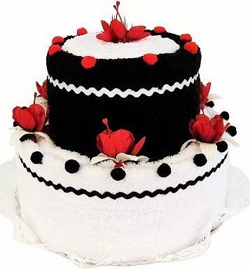 Veratex Textilní dort 2-E dvoupatrový