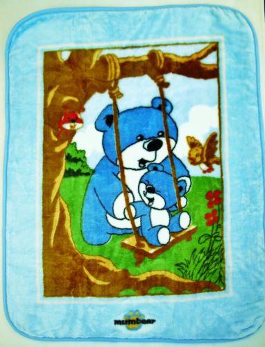 Pléd Polar Fleece 80x110 cm modrý medvídek