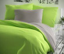 Bavlněný povlak na polštářek 35x45cm žlutozelené/šedé