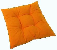 Sedák prošívaný  40x40 cm (oranžový)