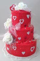 Veratex Textilní dort srdce - třípatrový
