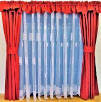 Záclona kusová - Kopretinka 110x300 cm  (bílá)