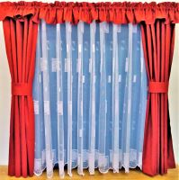Záclona kusová - Kopretinka 130x300 cm  (bílá)