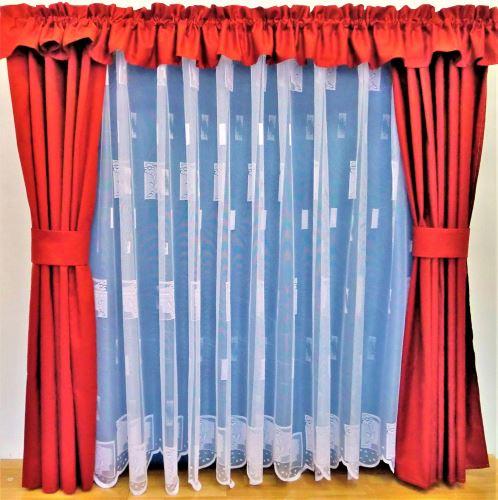 Záclona kusová - Kopretinka 120x300 cm  (bílá)