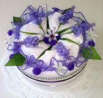 Veratex Textilní dort Levandule