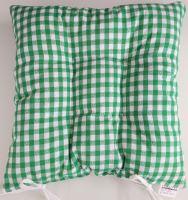 Sedák prošívaný 40x40 cm tkaný kanafas zelené srdíčko