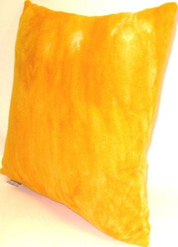 Polštářek froté  sytě.žlutá batika  40x40