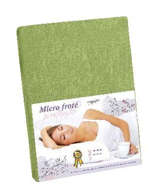 Prestieradlo Micro froté 180x200 (zelená)