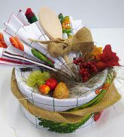 Veratex Textilní kuchyňský dort z utěrek SKLADEM POSLEDNÍ 1KS