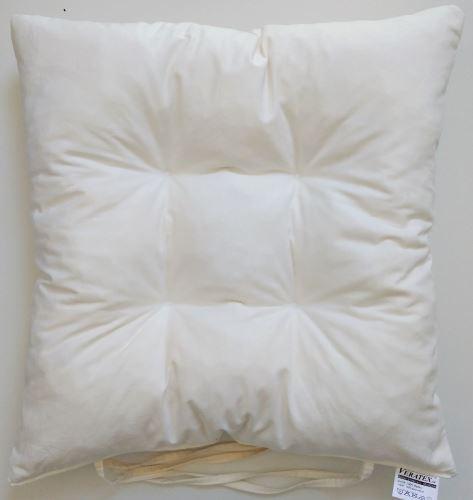 Sedák prošívaný  40x40 cm (smetanový)