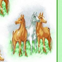 Krepové povlečení Koně 70x90, 140x200 (R1011)