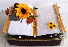 Veratex Textilní dort  kniha (hnědá)