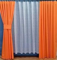 Záclona kusová - Pruhy 160x300 cm (biela)