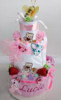 Veratex Dětský textilní dort - třípatrový