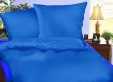 Krepové povlečení  70x90, 140x200 cm stř.modré
