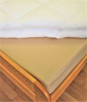Bavlnené prestieradlo dvojposteľ 220x240 cm (béžová)