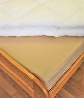 Bavlněné prostěradlo 2Lůžko s gumou 180x200/do výšky matrace 15 cm (béžová)