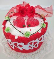 Veratex Textilní dort pro Vašeho miláčka 1ks osuška + 1ks ručník