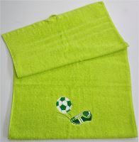 Ručník fotbal 50x100 žlutozelená