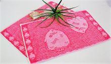 Dětský froté ručník 30x50 cm růžové rybky
