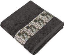 Froté ručník Kameny  50x100 cm šedá