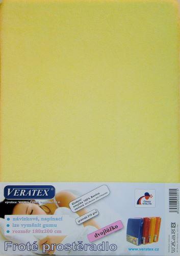 Froté prostěradlo 160x220 cm (č. 5-sv.žlutá)