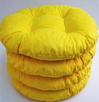 Sedák prošívaný kulatý průměr 40 cm (žlutý)