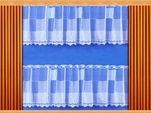Záclona Kostky výška 80 cm (bílá)