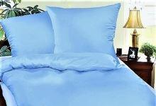 Krepové povlečení francie 2x70x90 + 240x200 (sv.modrá)