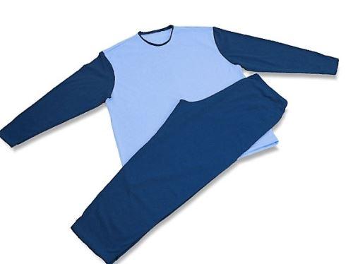 Pánské pyžamo 2421 tm.modrá-sv.modrá (M)