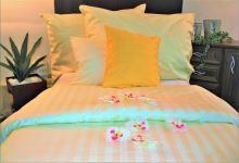 Damaškové povlečení - HOTELOVÝ  uzávěr  70x90 - 140x200 (proužek 2cm) 7 odstínů