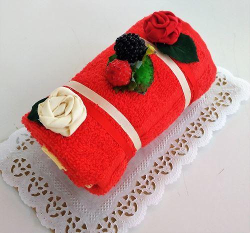 Veratex Textilní dort Roláda jahodová malá