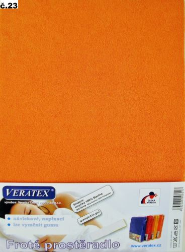 Froté prostěradlo jednolůžko 90x200/16cm (č.23-oranžová)